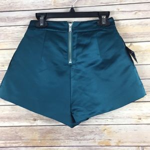 Nasty Gal Shorts - Nasty gal Teal Polyester Women's  Skort XXS